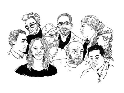 D&I Report Illustrations portraits people diversity ink illustration