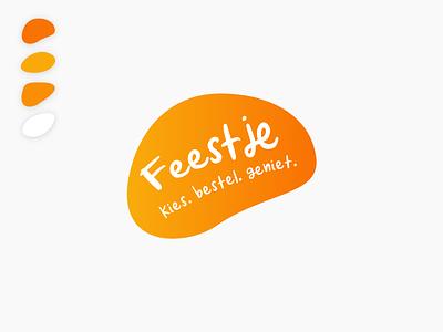 Party (Feestje) mobile app logo orange juice fun web typography 2020 design app design vector icon logo branding app