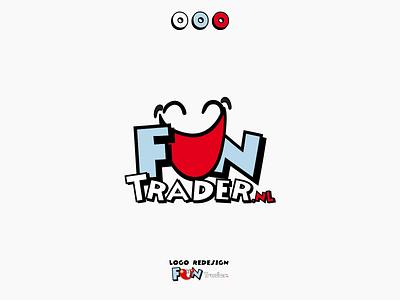 funtrader logo redesign redesigned logo design fun logo design branding 2020
