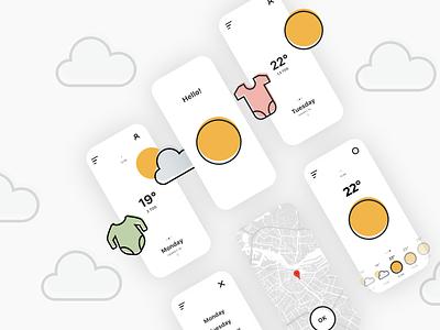 Baby Wear Advice Mobile App Design application app design ux design mobile application mobile design mobile ui