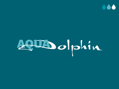 Aqua Dolphin product label aqua private label label design label product typography logo branding 2020 design