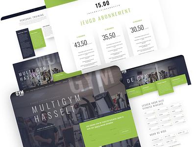 💪Multigym Hasselt Website Design dus showcase website fitness gym webdesign web branding 2020 design