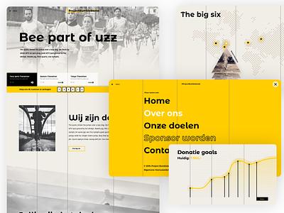 Marathon Fundraiser Website Design yellow ux design fundraiser marathon webdesign ux website web branding design 2020