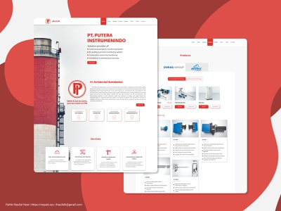PIN Company Profile design ux web ui company profile