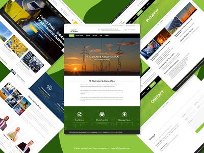 AAA Company Profile illustration minimal web ui design company profile