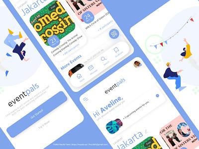 eventpals Design Concept ticket event app ux mobile app minimal ui design