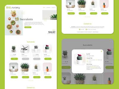MVP Design Concept - RAL.nursery flower green garden market web minimal ui design succulent plant