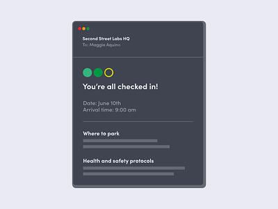 Simplified UI - Dark Mode confirmation email dark theme flat illustration dark mode