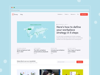Envoy Blog Redesign blog web design branding design