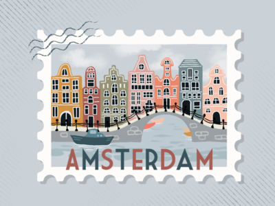 Amsterdam Postage Stamp
