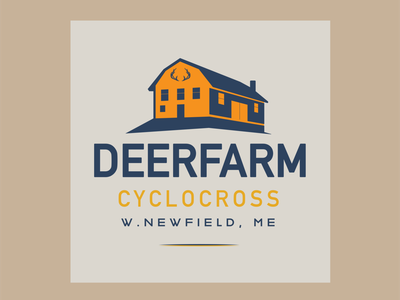 DEERFARM barn image farm farm logo barn logo barn thicklines cycling bicycle icon flat branding design vector