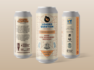 Loaded Question brewing co. - NH Brewers can label label design beer label design beer design can design design branding vector beer label