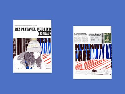 """Capa e contracapa jornal """"Respeitável Público"""""""