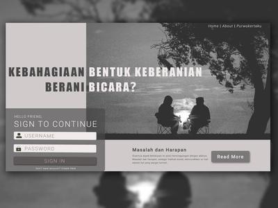 Bicara Homepage Design