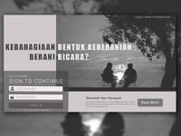 Bicara Homepage Design