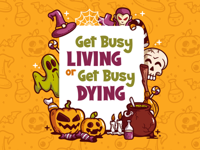 Living or Dying (Scary Dream Font) display font fancy funny halloween party halloween horror logotype charracter typography vector funny illustration design logo font awesome font branding font design