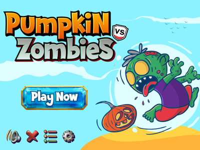 Pumpkin vs Zombies (Scary Dream Font) unique display font fancy funny halloween party halloween zombies games design games logo games charracter vector logotype typography design branding logo font awesome font font design