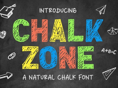 Chalk Zone Font unique display chalk charracter vector logotype typography branding design logo font awesome font font design