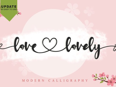 Love Lovely Font callygraphy love charracter vector logotype typography design branding logo font awesome font font design