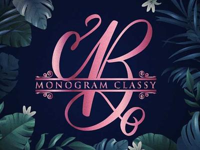 Monogram Classy charracter logotype vector typography font font awesome branding font design design logo