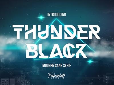 Thunder Black Font (Crazy Discount 90%) charracter logotype vector branding design logo typography font awesome font font design