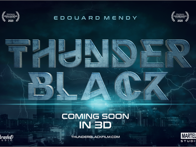 Thunder Black Movies  (Crazy Discount 90 %) packaging movie poster games logo design minimalist logo minimal flat charracter logotype design branding logo typography font awesome font font design
