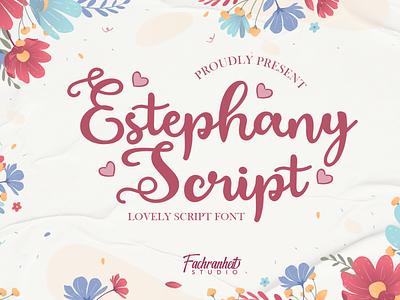 Estephany Script Font script love sweet cute caligraphy vector design logo branding illustration typography font awesome font font design