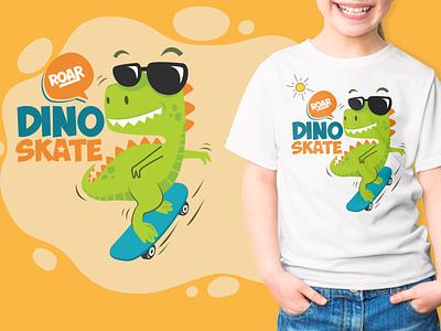 Kids T-Shirt Design (Dino Star Font) dinosaur fancy funny cute cool t-shirt design kids t-shirt vector design logo branding illustration typography font design font awesome font