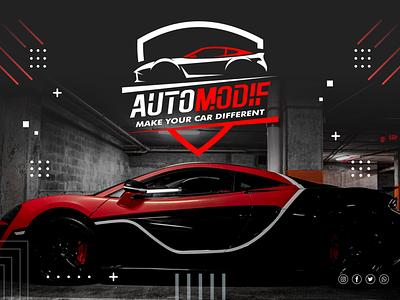 Logo Automodif (Virtuality Font) virtuality display futuristic modern cool logotype vector illustration design logo branding typography font design font awesome font