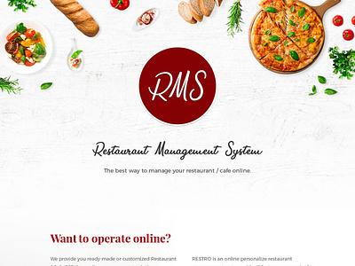 Restaurant Management Software app web design website ui  ux ui uiux cloudedots-uiux