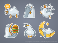 VK Seagull stickers