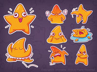 sticker set Star Lui
