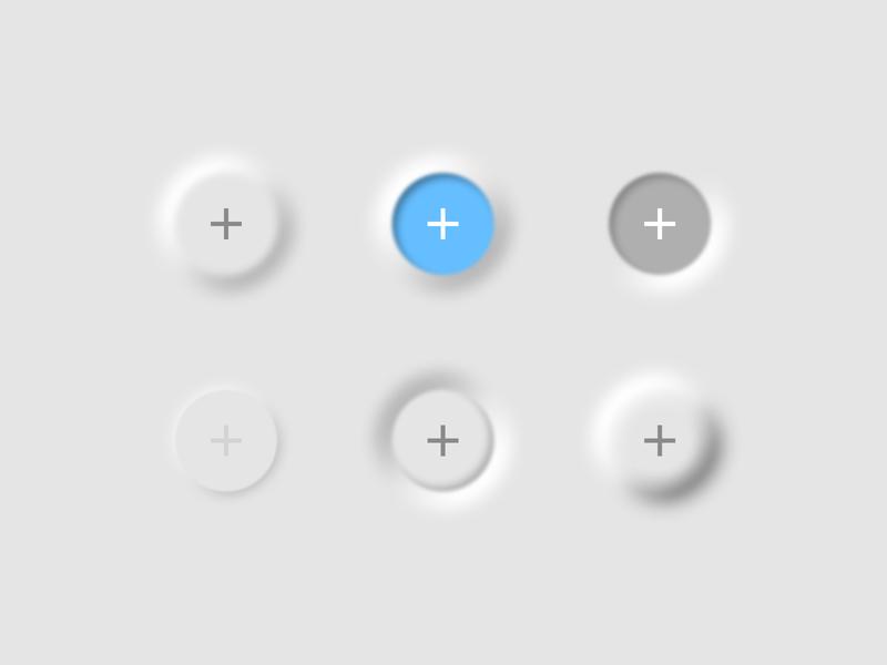 Neumorphism neumorphism button icon ios ux ui design simplified minimal
