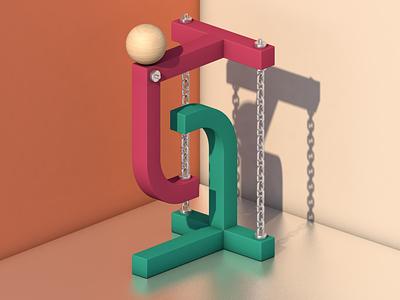 Tensegrity isometric design illustration science physics cinema4d c4d 3d modeling 3d art 3d tensegrity