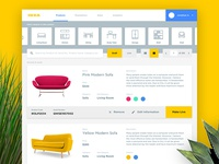 IKEA Product Dashboard (Concept)