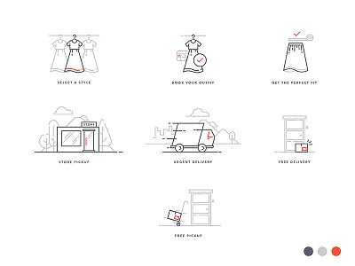 Flyrobe Icons startup e-commerce minimal flyrobe icon-set icon