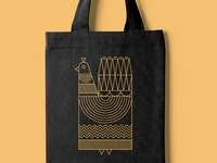 Black N Gold Tote Bag