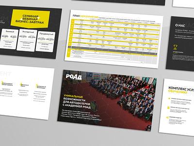 Дизайн и верстка презентации для РОАД Академии presentation design illustration indesign design