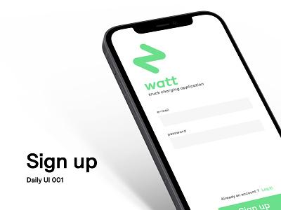 Daily UI 001 - Sign Up interface web web design we ui daily dailyui