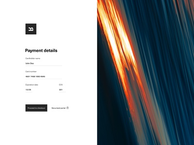 Daily UI 002 - Credit Card Checkout design daily web ui interface web design