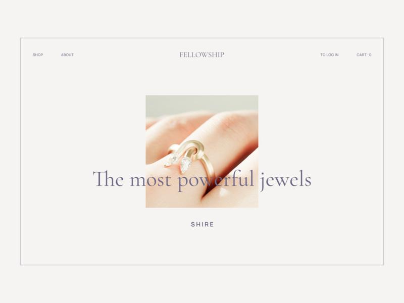 Fellowship jewellery webstore uiux main page minimalist store jewellery jewels webdesign website web figma