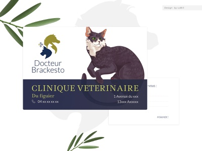 Vet branding and business card · By LoBill illustration brand design logo design logo veterinarian veterinary vet brand identity brand brandign
