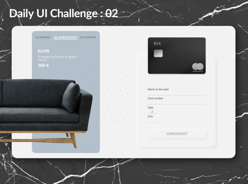 #Daily UI Challenge 02 : Credit Card Checkout