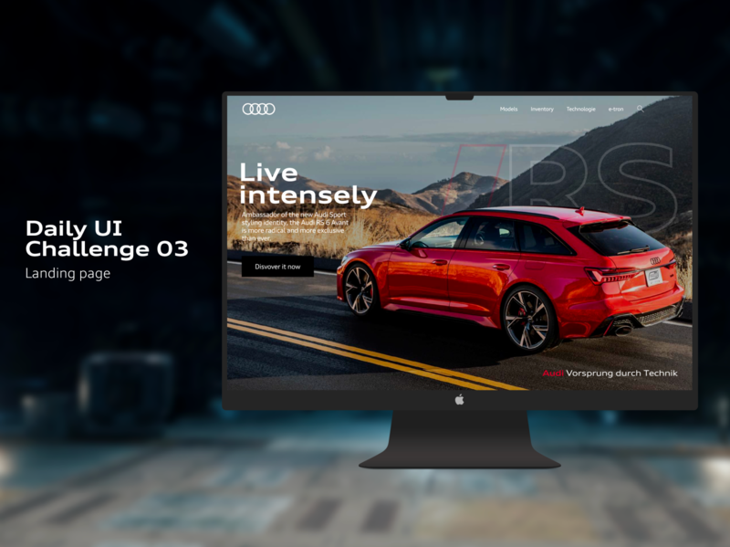 #Daily UI Challenge 03 : Landing page
