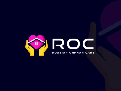 ROC logo selected minimal russia us united states fiverrgig orphan love care russian roc gig logo freelancer upwork fiverr creativelogo typography