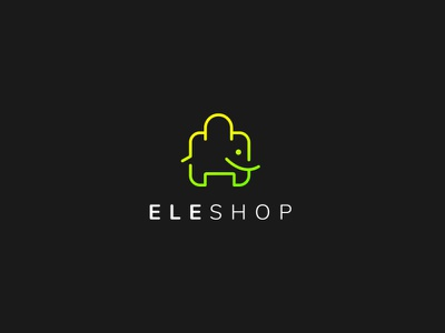 Eleshop gig unique logo professional logo minimalist cart shopping cart shopping bag bag elephant elephant logo logo freelancer upwork illustration logoexcellent creativelogo fiverr typography