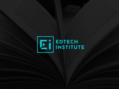 EDTECH INSTITUTE design distinct creative freelancer fiverr typography education logo illustrator uk institute moral study learning digitaleductaion digital online educational education