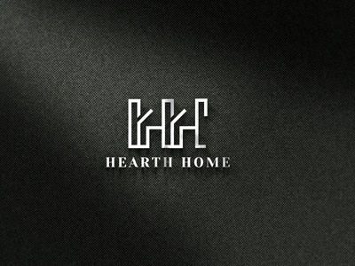 Hearth Home monogram design monogram logo monochrome monogram hearth logodesign rental home minimalist distinct logo branding designagency brandidentity upwork illustration logoexcellent creativelogo typography fiverr
