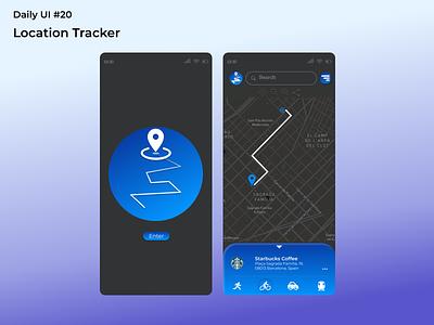 #dailyui #20 Location Tracker location tracker uidesign figma app ui design dailyui