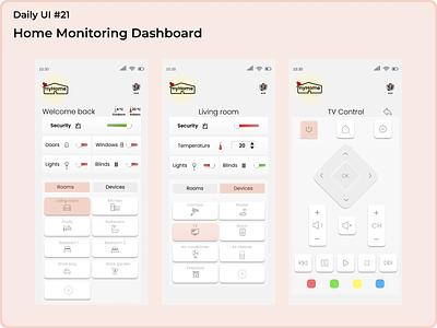 #dailyui #20 Home Monitoring Dashboard logo uidesign figma app ui design dailyui